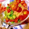 おくらトマトのちゅるんと冷製レモンオイルパスタ