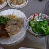 幸運な病のレシピ( 1357 )朝:ブタロース・ウインナ・インゲンソテー、竹輪インゲン天ぷら、塩サバ、鮭、イワシ・塩サバ仕立直し、「後片付けを科学する」