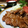 妙高高原「竹内食堂」豚肉のしょうが焼き定食( ̄▽ ̄)