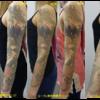片腕全部広いタトゥーはこのようにとれていきます。