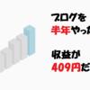 【経過報告】ブログ開始から半年が経過、収益額が409円で絶望しました【6か月目】