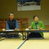 19日、飯野後援会で議会報告会を兼ねたつどい。原発、イノシシ対策に話題が集中