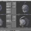 HoloLens特化のホロ恋子モデルを作成する その19(ポニーテールのモデリングとピボットポイント)