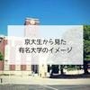 京大生からみた有名大学のイメージ