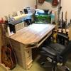 ギター弾きの机製作
