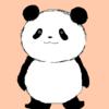 できたよ!って パンダのイラスト