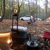 撫岳荘キャンプ場は紅葉ピーク手前でも寒くて、石油ストーブがありがたかった その3