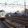 軽井沢駅で
