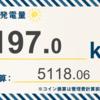 10/14〜10/20の総発電量は197.0kWh(目標比69.48%)でした!
