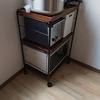 食器棚を捨てた代わりに購入した、家電を置いているワゴンの話