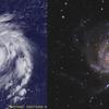 台風と渦巻銀河