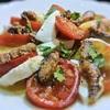 炙りへしことトマト、モツァレラのカプレーゼ