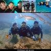 仲良し兄弟と潜ったり泳いだり
