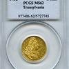 トランシルバニア1732年 カール6世 ダカット金貨PCGS MS62