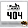 100miles to Auburn