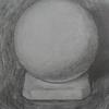 球を描く 絵画教室にて