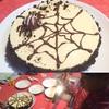 小5作、ハロウィンデザインのチーズケーキ