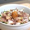 アジのサラダ丼ぶりトトロのせ The horse mackerel salad bowl sitting a TOTORO