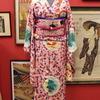 お花見コーデ! ピンク地桜と丸紋小紋×ピンク地桜と青い鳥刺繍名古屋帯