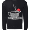 Pretty Christmas coffee wearing Red santa hat Bling ugly sweater