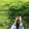 誰もいない公園でひとりアーシング1時間!世間とズレすぎている気がする!