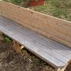 屋外用ベンチの製作(4) 再塗装