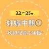 【22〜25w/妊娠中期④】切迫早産(流産)でまたもや休職…
