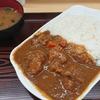 安里の牛丼屋・どん亭でチキンカツカレー