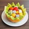 スイカのフルーツバスケットとメロンのフルーツボウル/My Homemade Sweets/ขนมที่ทำเอง