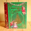 本のカタチのお菓子缶、クリスマスブックティン。