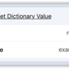 Set Dictionary Value