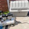 エアーコンプレッサーを屋外保管するためにホムセン箱を加工した