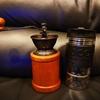 手挽きコーヒーミル&フレンチプレスコーヒーメーカー
