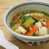 簡単!!豆腐のチンゲン菜のピリ辛 坦々風スープの作り方