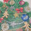 【クリスマスツリーの塗り絵】葉っぱを1枚1枚塗るのが大変!