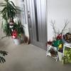 玄関の中もクリスマスにディスプレイしました。