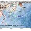 2017年08月24日 11時44分 千葉県南東沖でM3.0の地震