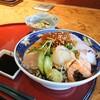 【楽市楽座】居酒屋ランチの海鮮丼はネタの種類が豊富でした(安佐南区西原)