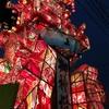 福野夜高祭で行燈を見に
