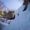 南沢大滝・小滝でアイスクライミング