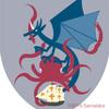 竜の紋章。クラーケンと。