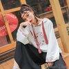 太目の紐と刺繍が可愛いチャイナ風&和風なバーカー