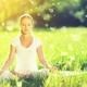 朝の光に包まれる瞑想は、心地いい