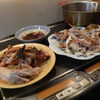 幸運な病のレシピ( 859 )夜:鳥丸焼き、汁、レバー照り焼き
