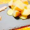 新じゃが芋のラクレットチーズ(風)🧀とフルーツサラダ🍓