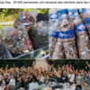 World clean up day &マリブロン 坂茂 陰謀論ほか