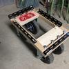 収穫コンテナ用の台車制作