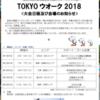 東京ウオーク2018の日程が決まりました。