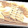 やっべ!!完成後の画像加工が面白すぎて草生えるwww帆船「日本丸」ペーパーモデルアート その12