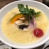 493. 鶏白湯SOBAトリュフ仕立て@篝(銀座):まろやかすぎる鶏白湯スープとトリュフの豊潤な香りのコラボレーションがたまらない!